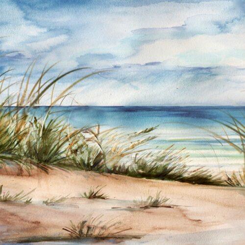 Schilderij 'Strand'