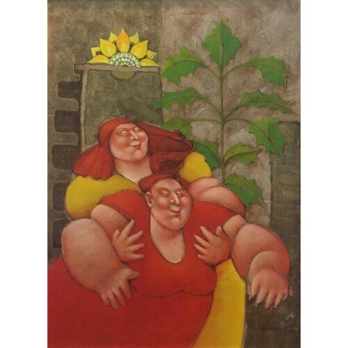 Ada Breedveld schilderij 'Blessed hands'