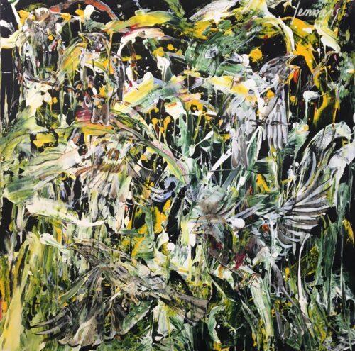 Leo Lemmens schilderij 'Vogels'