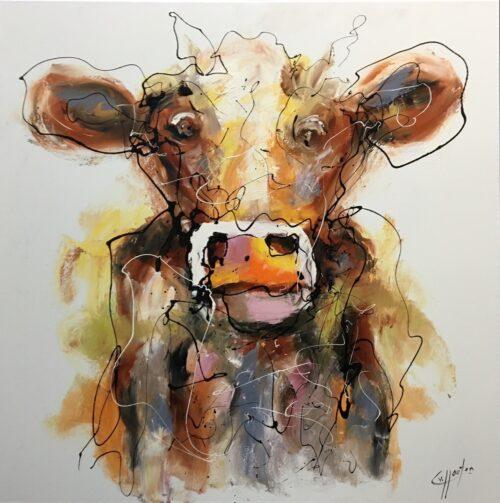Casper van Houten schilderij 'Koe'