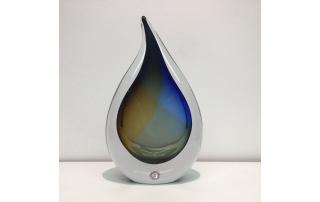 Loranto Kristal 'Druppel blauw/bruin'