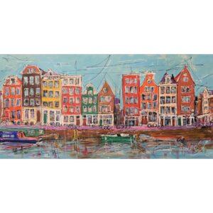 Mathias Schilder schilderij 'Grachtpanden'