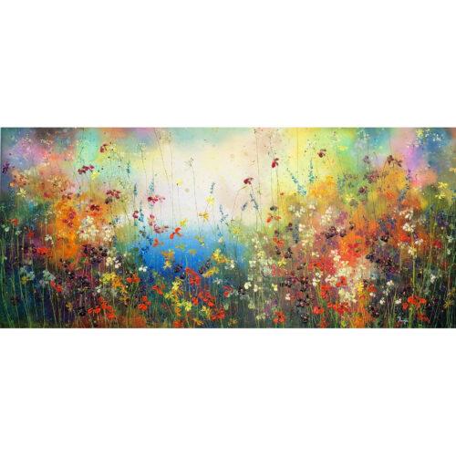 Yulia Muravyeva schilderij 'Fresh field flowers'