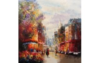 Henry Brand schilderij 'The Flowershop'