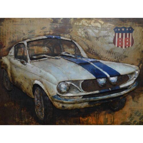 Metal Art 3D schilderij 'Ford Mustang'