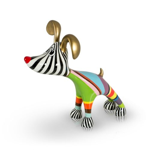 Niloc Pagen stretching dog Billie 'Multicolor