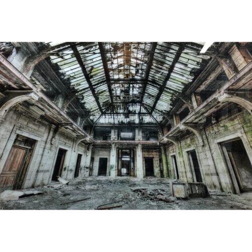 Foto op glas 'Urban Office'