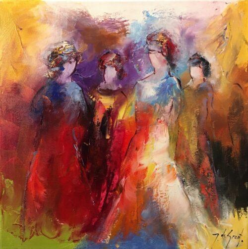 Jochem de Graaf schilderij 'Four lady's'