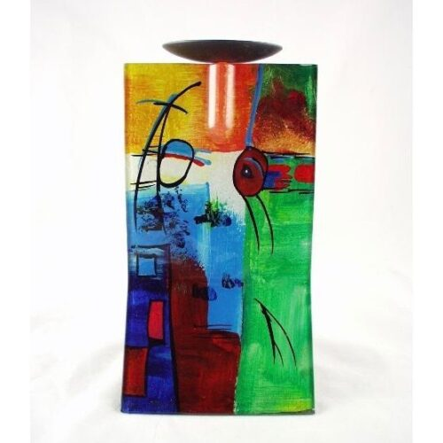 Design glas handbeschilderd 'Kandelaar fresh' 25 cm