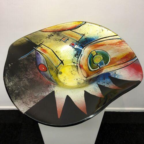 Design glas 'Schaal hoed color'