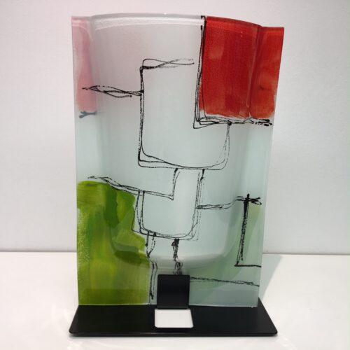 Design glas handbeschilderd 'Vaas Berlin'