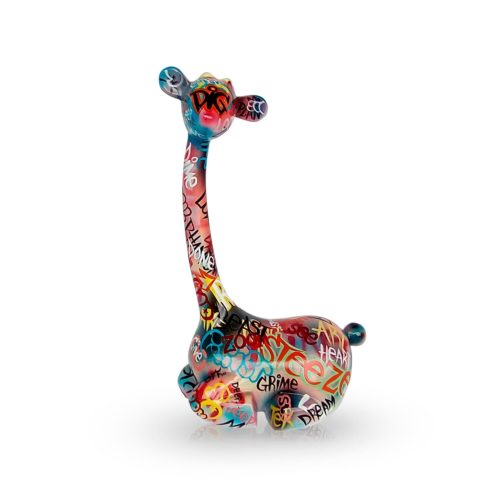 Mia Coppola Lying Giraffe 'Graffiti' (M)
