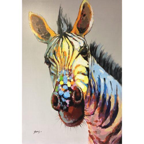 Schilderij 'Zebra'