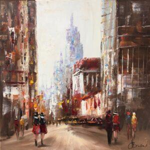 Henry Brand schilderij 'City'