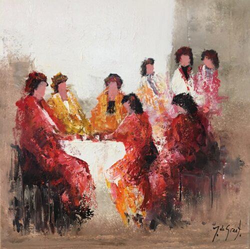 Jochem de Graaf schilderij 'Tea-time'
