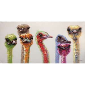 Schilderij 'Struisvogels'