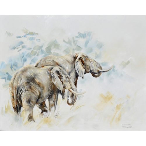 Vanessa Lomas schilderij 'Into the light'