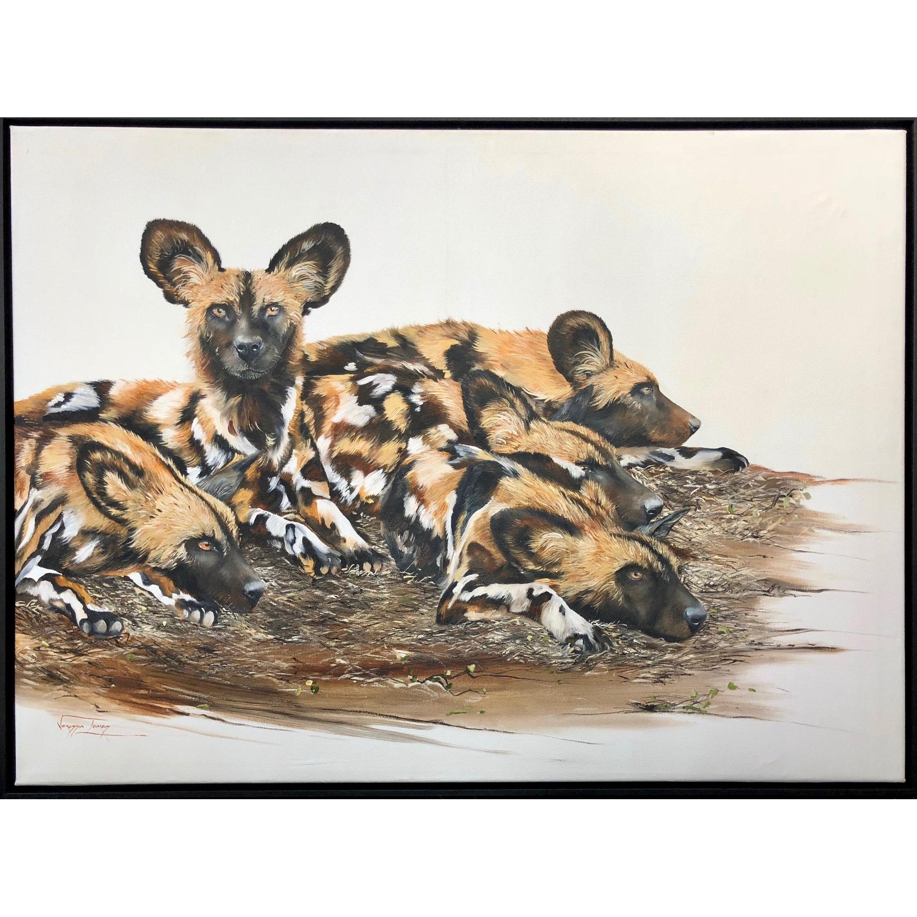 Vanessa Lomas schilderij 'Restful Clan'