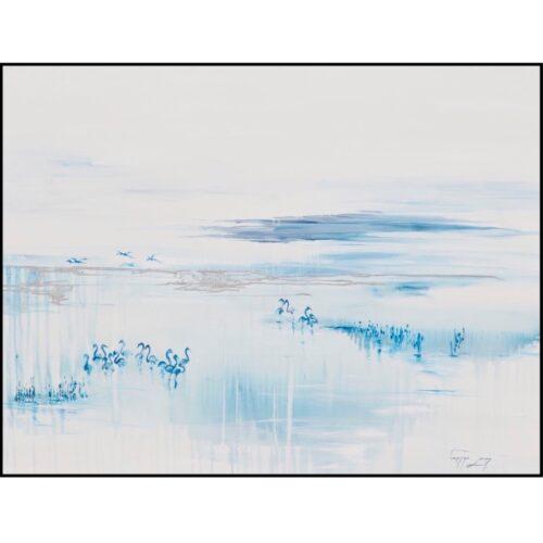 Vanessa Lomas schilderij 'Shimmering Lake'