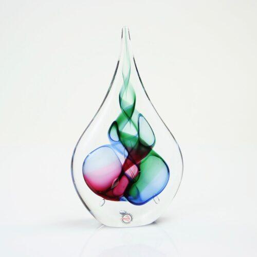Loranto Kristal 'Druppel blauw/groen/rood'