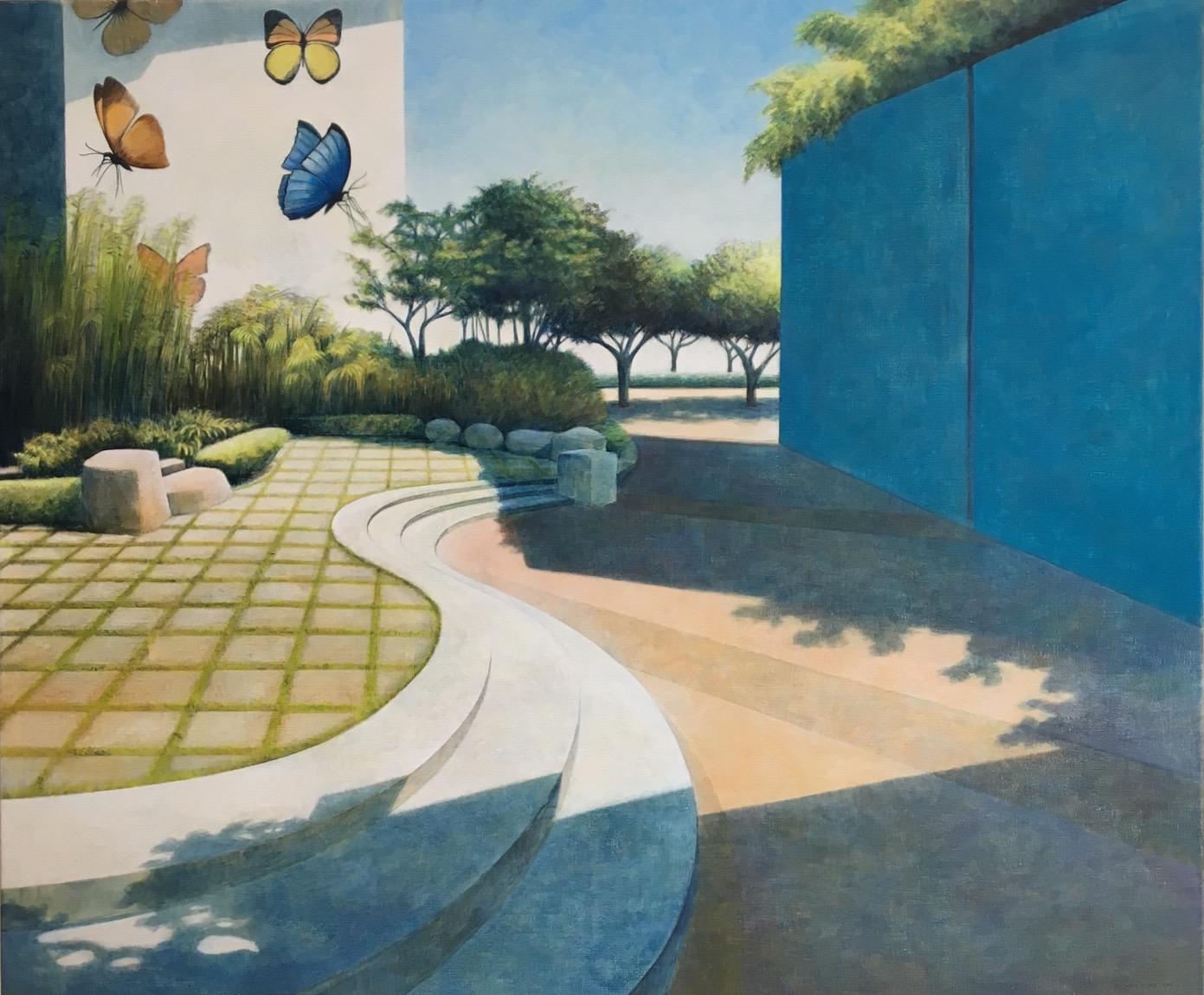 Marcel van Hoef schilderij 'Passage' is geschilderd met Eitempera op linnen. De afmetingen zijn 100 x 120 cm en is ingelijst in een nette witte lijst. De reguliere verkoopprijs is €. 4.500,- . Dit schilderij is speciaal ingekocht en kunnen we voor een speciale prijs aanbieden. Informeer naar de mogelijkheden.