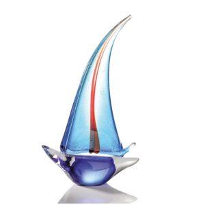 Vetro glas beeld 'Zeilboot'