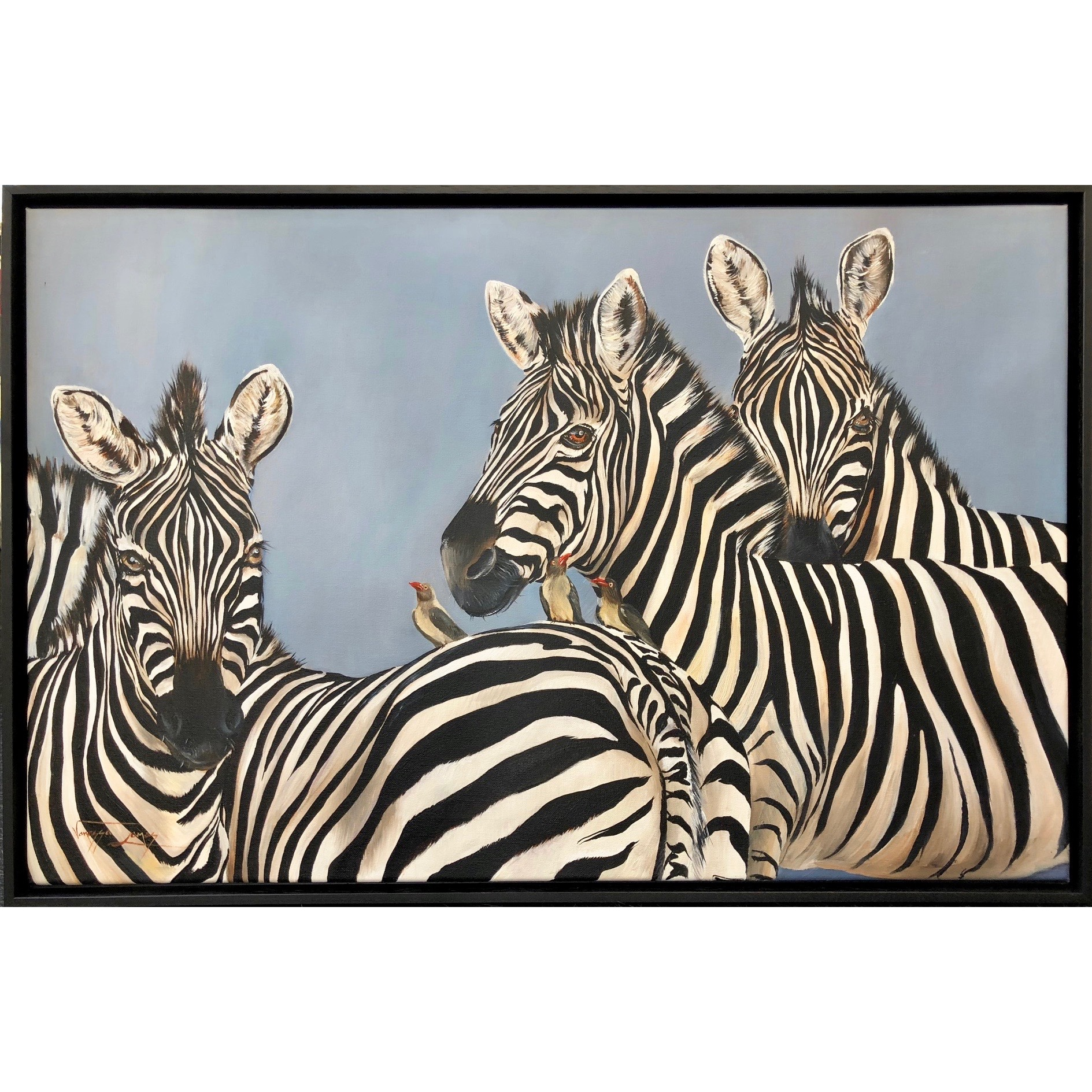 Vanessa Lomas schilderij 'Camouflage'