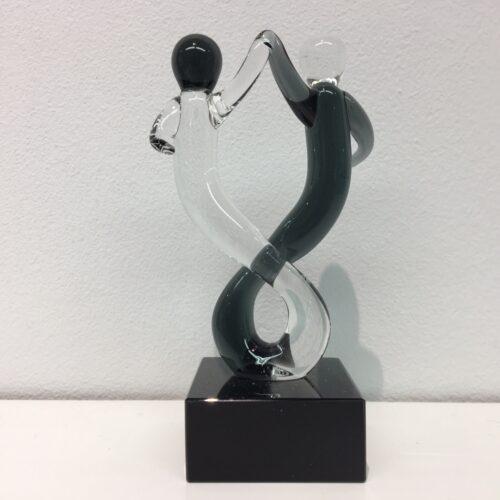 Vetro glas beeld 'Rumba Dance'