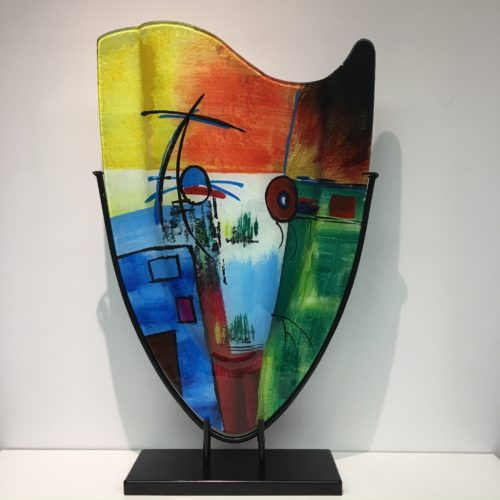 Design glas handbeschilderd 'Vaas hoog Fresh'