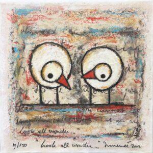 Hans Innemee zeefdruk 'Look all wonder...'