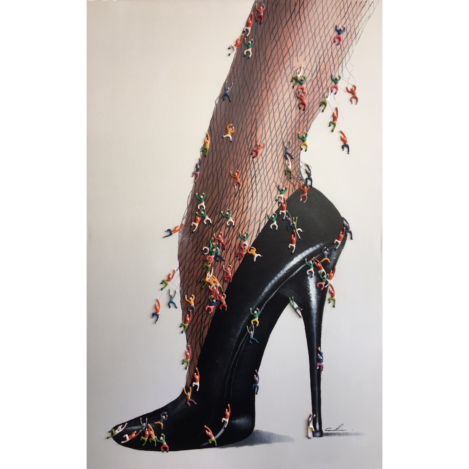 Schilderij 3D 'High Heels'