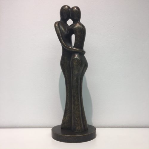 Bronzartes bronzen beeld 'Abstract Couple'