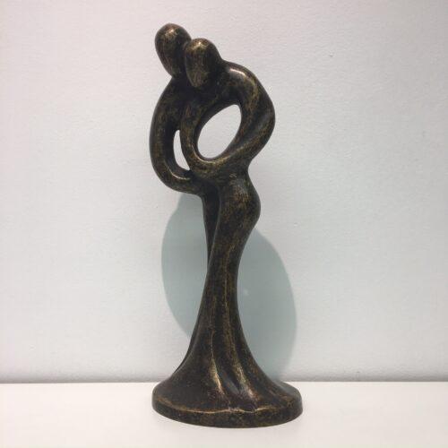 Bronzartes bronzen beeld 'Liefdespaar'
