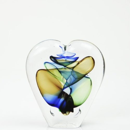 Loranto glas hart klein 'blauw,beige'