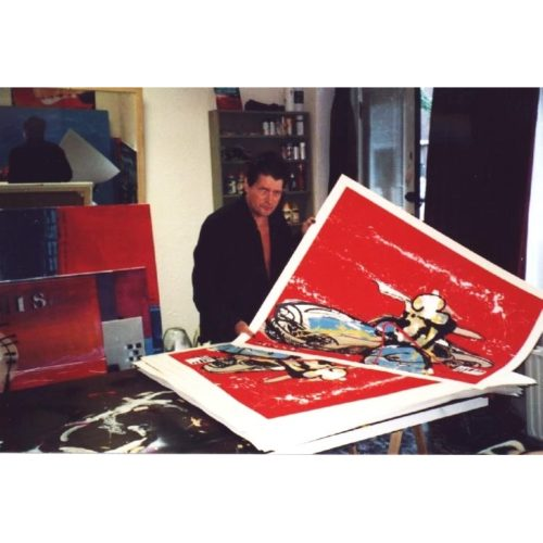 Herman Brood zeefdruk 'Mercedes 300 SL'