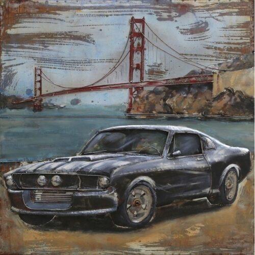 Metal Art 3D schilderij 'Golden Gate Bridge'