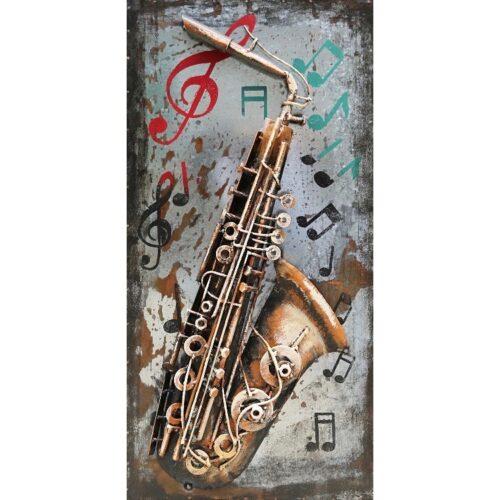 Metal Art 3D schilderij 'Saxofoon'