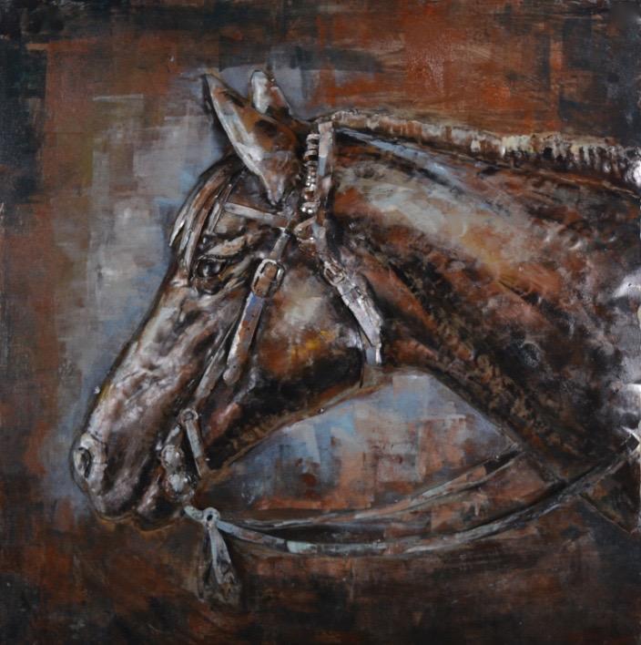 3d Schilderij Metaal.Metal Art 3d Schilderij Paard