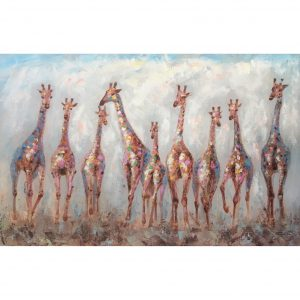 DecoArt schilderij 'Negen Giraffen'