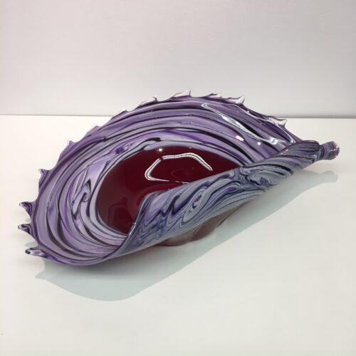 Loranto glas schaal 'Purple'