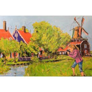 Mathias Schilder schilderij 'Hollandse Molen'