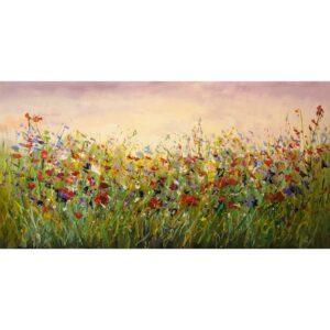 Jochem de Graaf schilderij 'Bloemenveld'
