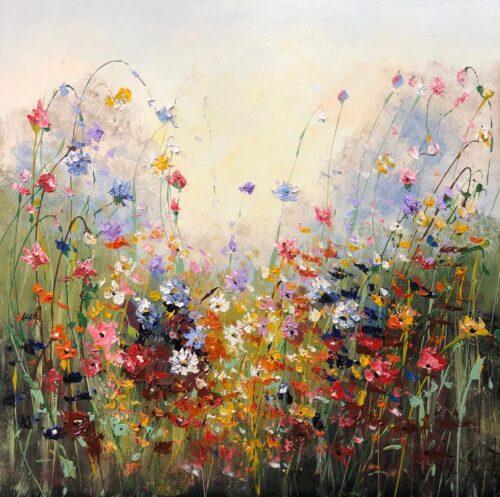 Jochem de Graaf schilderij 'Flowers'