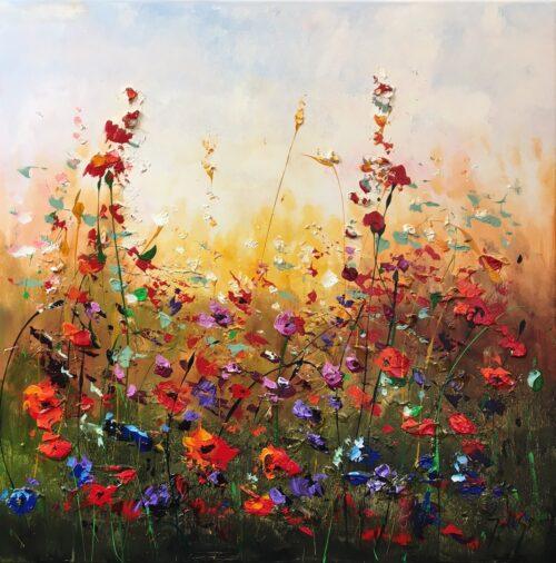 Jochem de Graaf schilderij 'Flowers