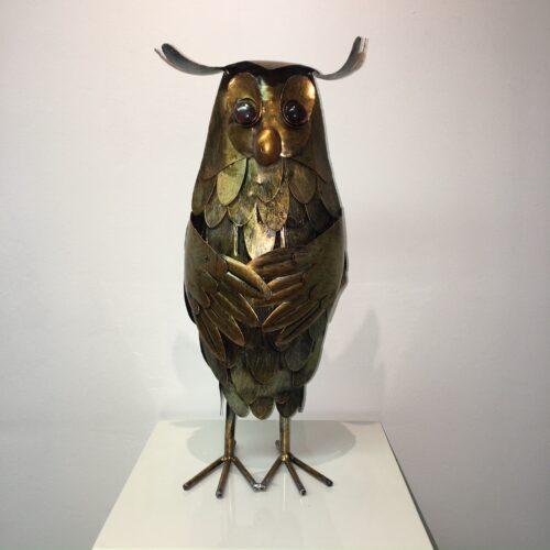 Metal Art beeld 'Uil'