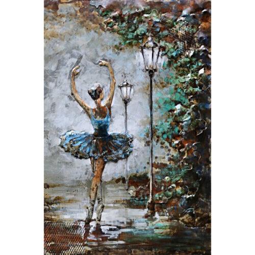 Metal Art 3D schilderij 'Ballet Dancing'