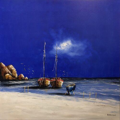 D. Dumont schilderij 'Blue Sea