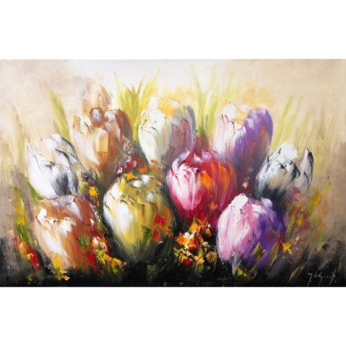 Jochem de Graaf schilderij 'Tulpen'