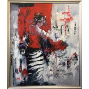 Ricky Damen schilderij 'Shopping Girl'