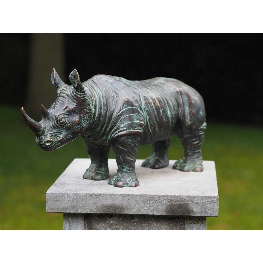 Bronzartes bronzen beeld 'Neushoorn'